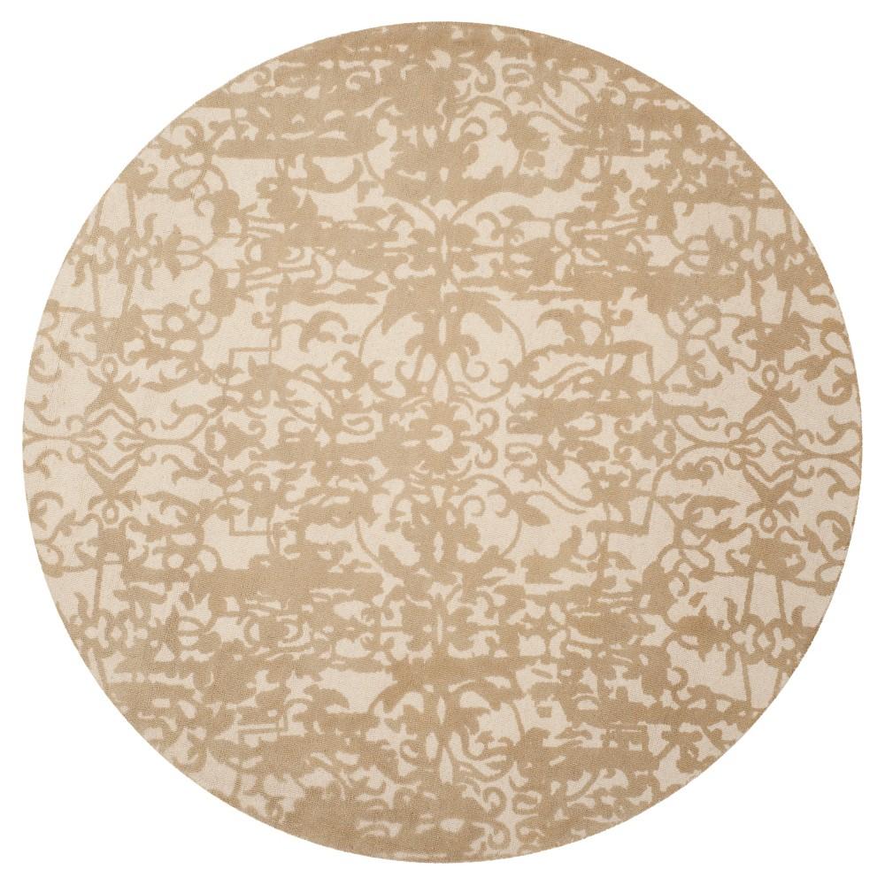 Restoration Vintage Rug - Ivory/Sand (Ivory/Brown) - (6'x6' Round) - Safavieh