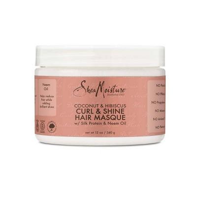 SheaMoisture Coconut & Hibiscus Curl & Shine Hair Masque - 12oz