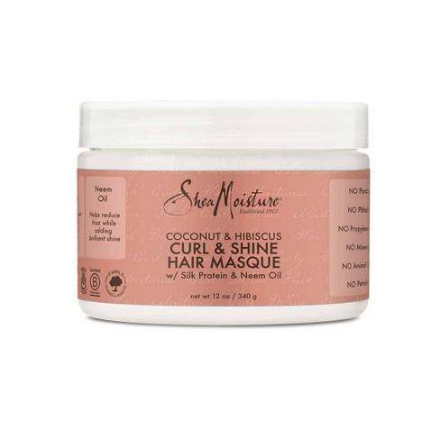 SheaMoisture Coconut & Hibiscus Curl & Shine Hair Masque - 12oz - image 1 of 4