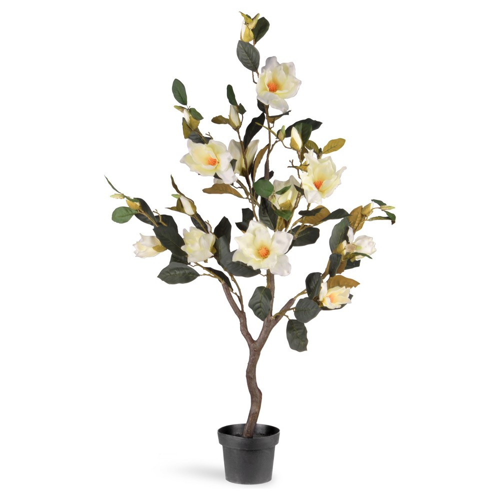 Image of Artificial Magnolia Tree Cream (Ivory) 4ft - National Tree Company