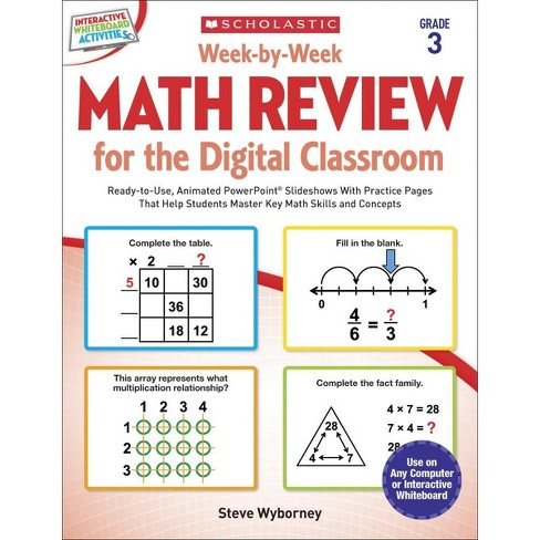Scholastic Week by Week Math Review for Digital Classrooms, Grade 3 - image 1 of 1