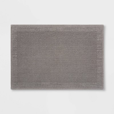30 x21  Performance Textured Bath Mat Gray - Threshold™