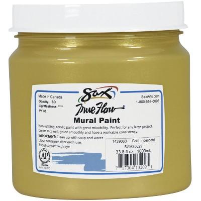 Sax True Flow Acrylic Mural Paint, 33.8 oz Plastic Container, Gold
