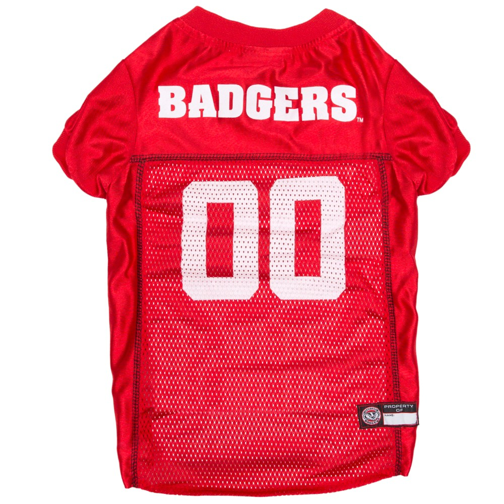 Pets First Wisconsin Badgers Mesh Jersey Xs