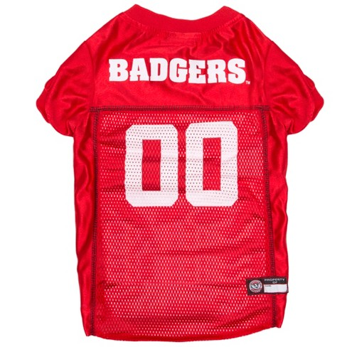 NCAA Pets First Wisconsin Badgers Mesh Jersey - L - image 1 of 2