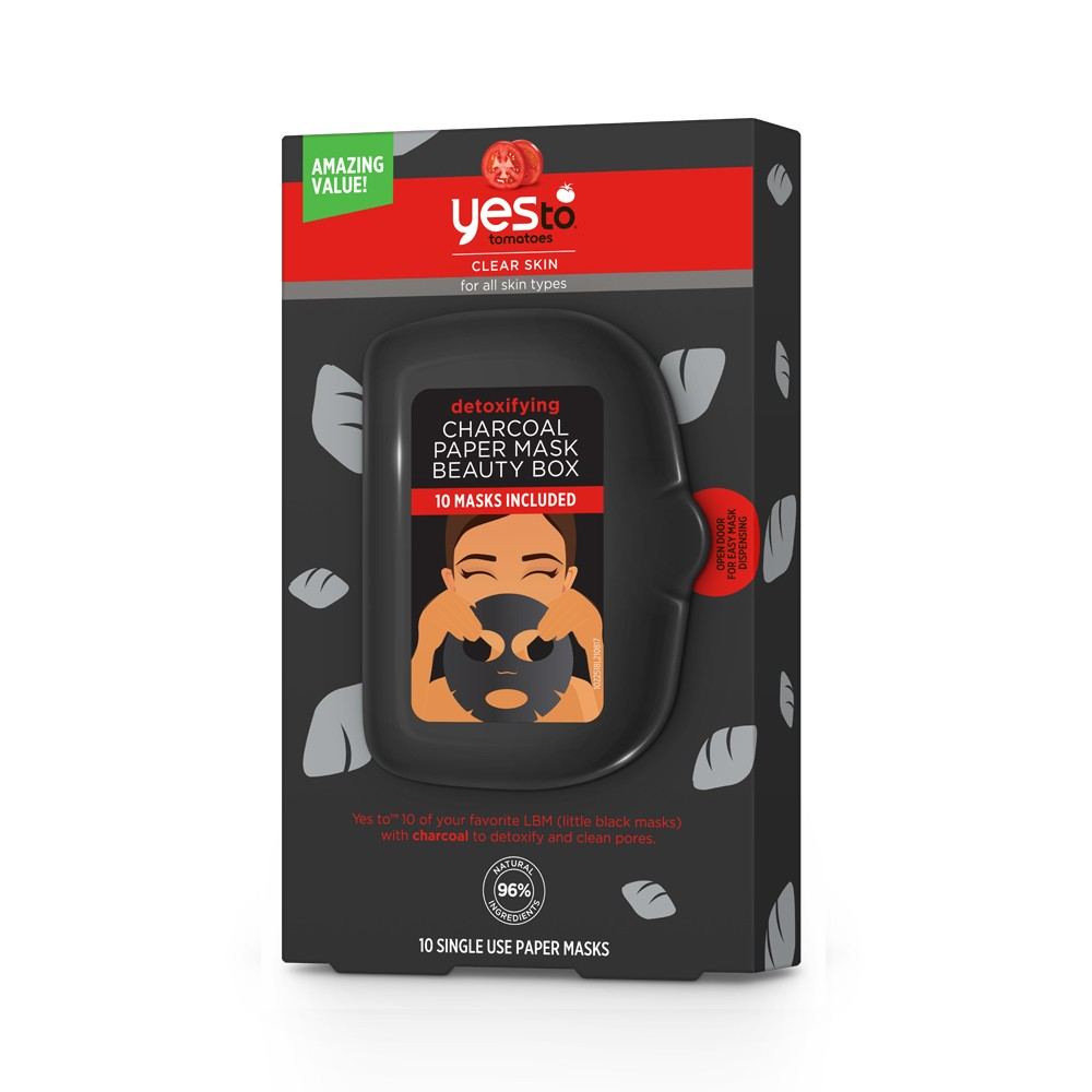 Yes To Tomatoes Charcoal Mask Box - 10ct