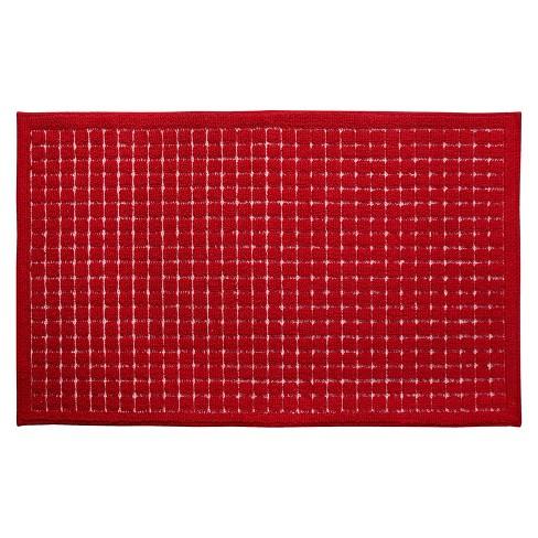 Red Nonskid Kitchen Rug 20\