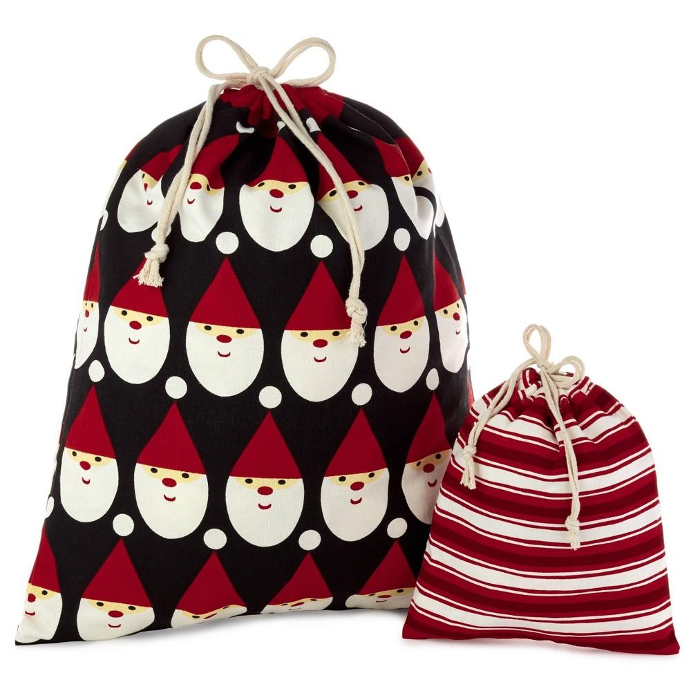 Image of 2ct Hallmark Fabric Christmas Gift Bag Set