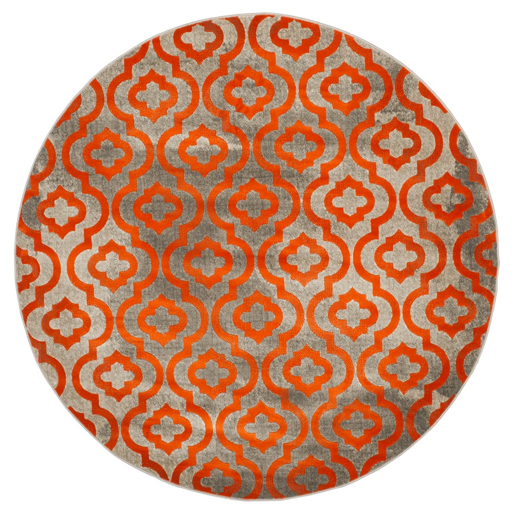 Milo Area Rug - Light Gray / Orange ( 6' 7