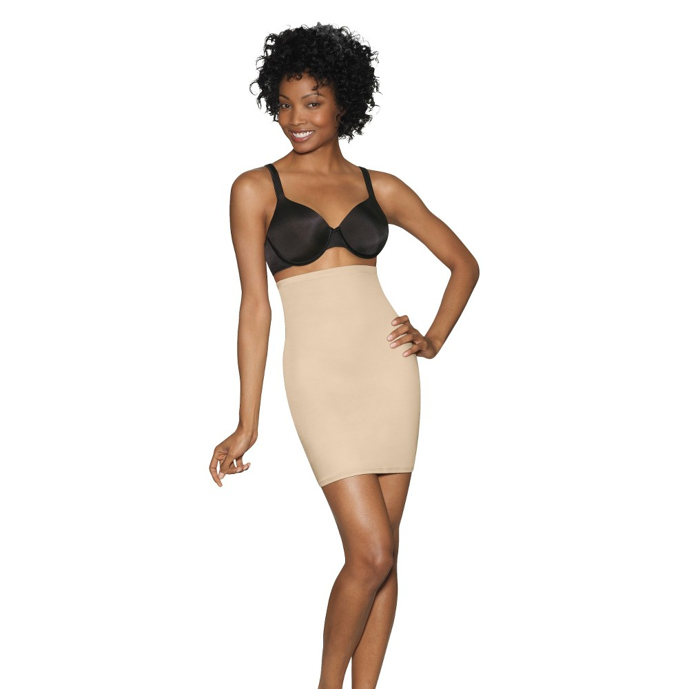 Hanes Women's Slimming High-Waist 1/2 Slip T294 - Nude XL