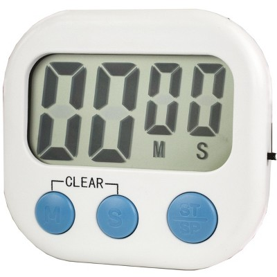 Home Basics Digital Kitchen Timer, White