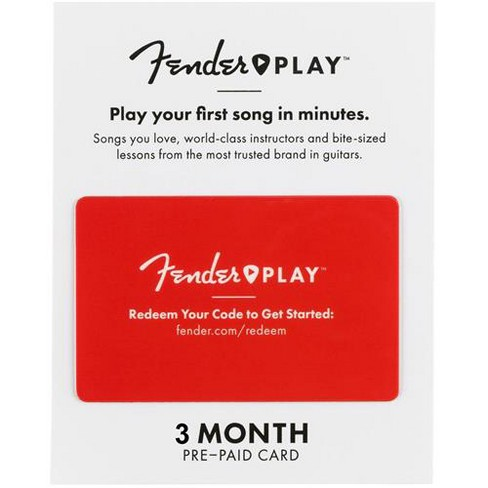 Fender Play 3 Month Prepaid Card - image 1 of 1