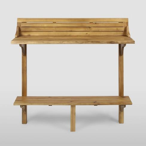 Rectangle Caribbean Acacia Wood Balcony Bar Table - Christopher Knight Home - image 1 of 4
