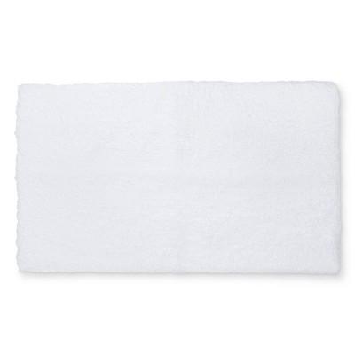 34 x20  Tufte Spa Bath Rug White - Fieldcrest®