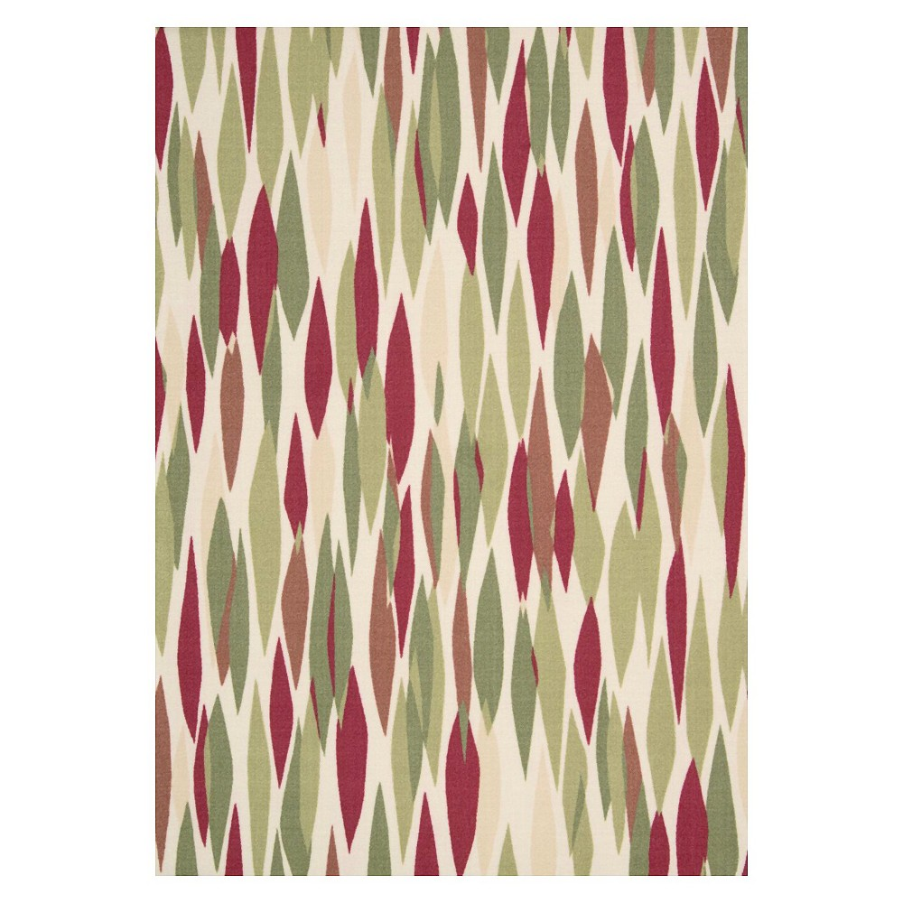 Waverly Contemporary Indoor/Outdoor Rug - Red/Multi (10'x13'), Blossom