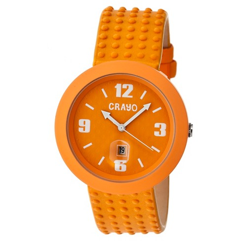 Women's Crayo Jazz Watch with Magnified Date Display- Orange - image 1 of 3