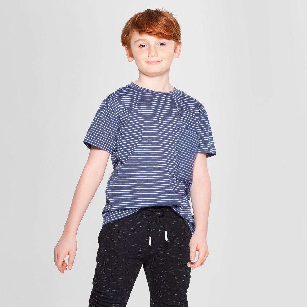 Boys' Stripe Short Sleeve T-Shirt - art class Blue M