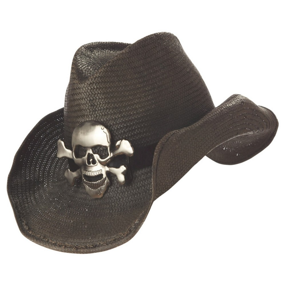 Halloween Cowboy Adult Hat Black, Adult Unisex