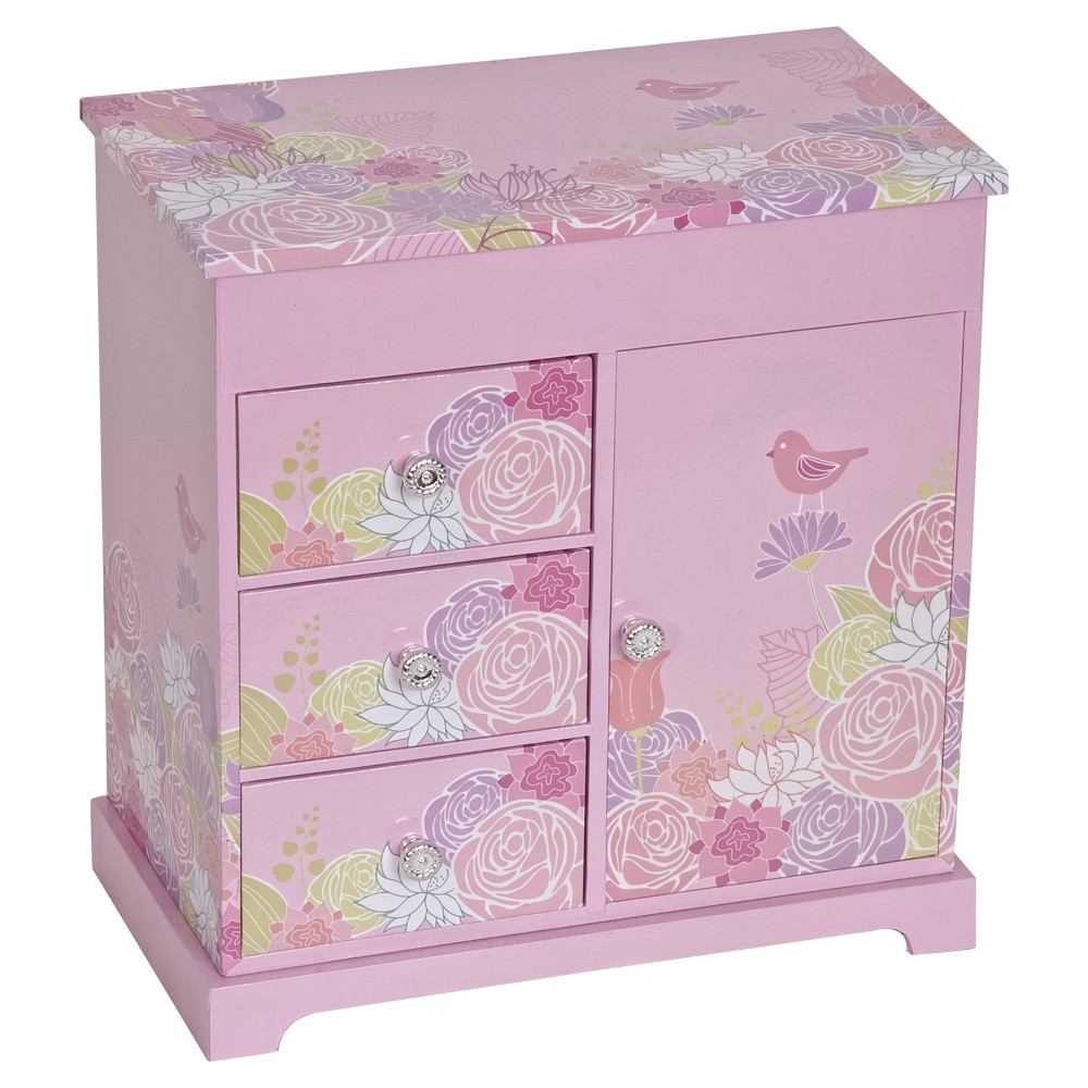 Mele & Co. Pearl Girls' Musical Ballerina Jewelry Box - Pink Sweet and feminine, this Mele and Co. Pearl Girls' Musical Ballerina Jewelry Box in Pink is perfect for your little lady. The spinning ballerina and musical design bring a dash of magic to this girl's jewelry box. Gender: Female.