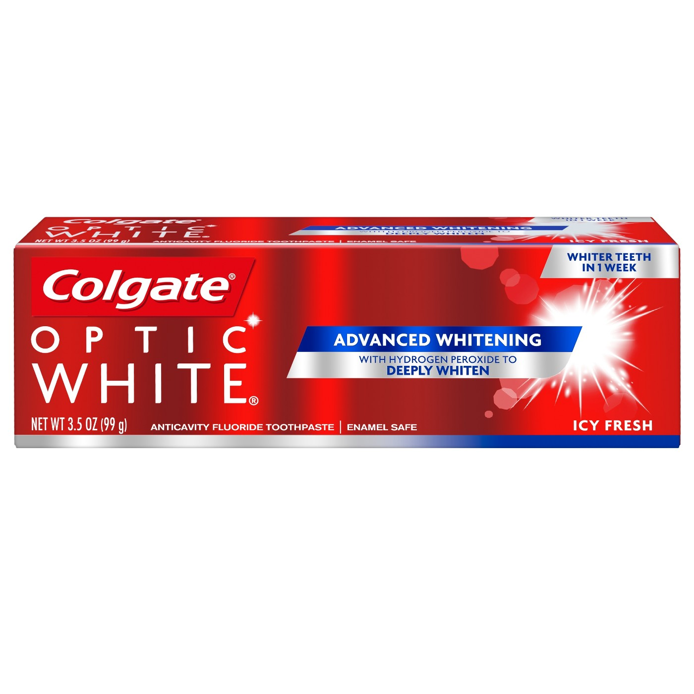 3-Pk. Colgate Optic White Whitening Toothpaste Icy Fresh - 3.5oz + $5 GC