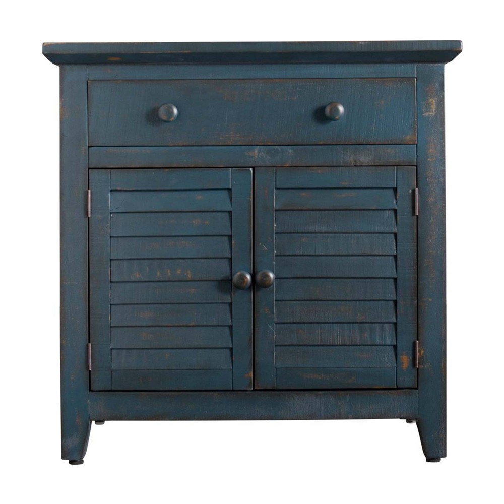 Diego 2 Door Accent Chest Blue Picket House Furnishings