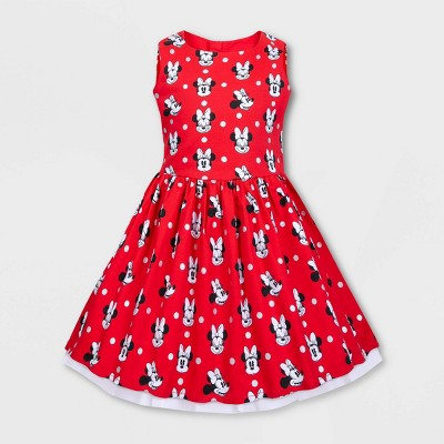Girls' Disney Minnie Mouse Dress - Red - Disney Store