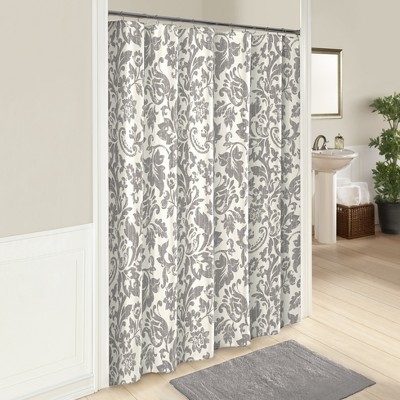Tanner Printed Shower Curtain Gray - Marble Hill