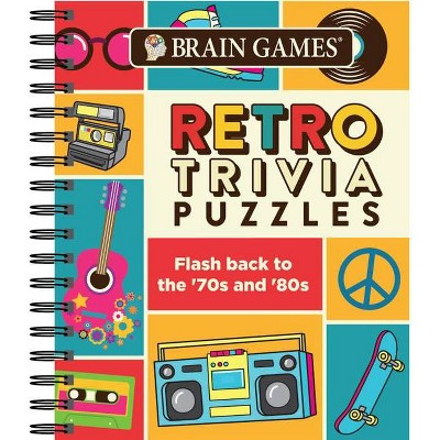 Brain Games Retro Trivia Puzzle (Spiral Bound)