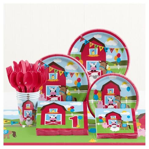 Farm Fun 1st Birthday Party Supplies Kit - image 1 of 2