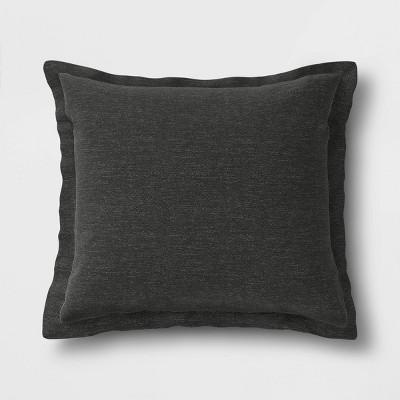 Woven Outdoor Deep Seat Pillow Back Cushion DuraSeason Fabric™ Charcoal - Threshold™