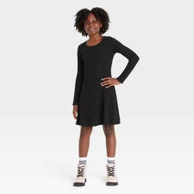Girls' Skater Long Sleeve Dress - art class™