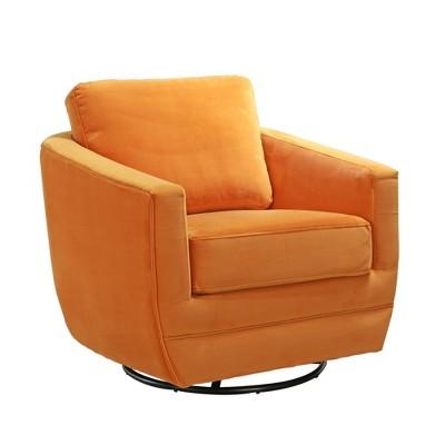 Karla Dubois Gogh Swivel Accent Chair - Marigold