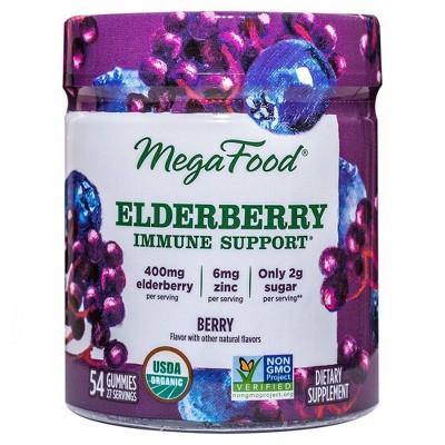 MegaFood Immune Support Gummies - Elderberry - 54ct