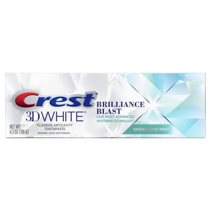 Crest 3D White Brilliance Blast Whitening Toothpaste Energizing Mint - 4.1oz : Target