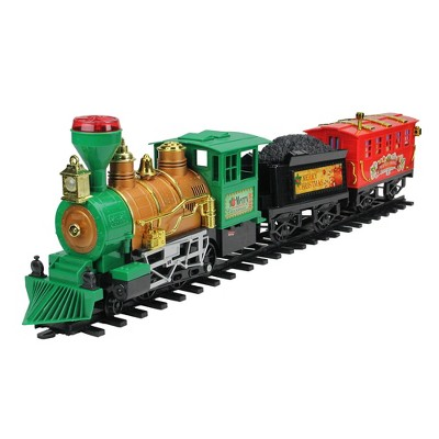 Northlight 19-Piece Green and Red Battery Operated Christmas Express Train Set
