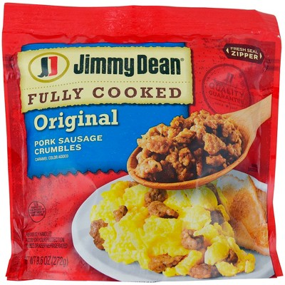 Jimmy Dean Fully Cooked Original Pork Sausage Crumbles - 9.6oz