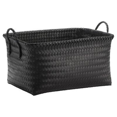 Large Woven Rectangular Storage Basket - Black - Room Essentials™