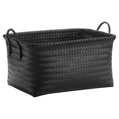 Large Woven Rectangular Storage Basket - Black - Room Essentials™ - image 1 of 1