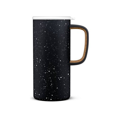 Ello 18oz Stainless Steel Campy Travel Mug Black
