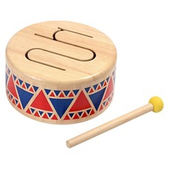 PlanToys Solid Wood Drum, toy drums and percussion