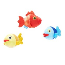 BARK Fish School Dog Toy - The Groupers 3pk