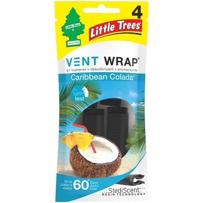 Little Trees 4pk Vent Wrap Caribbean Colada Air Fresheners