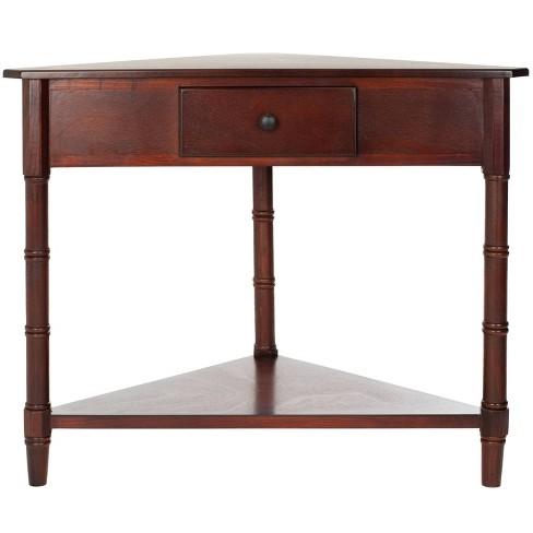 Gomez Triangular Console Table - Brown - Safavieh - image 1 of 4