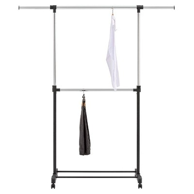 Adjustable Double Rod Garment Rack Black - Room Essentials™