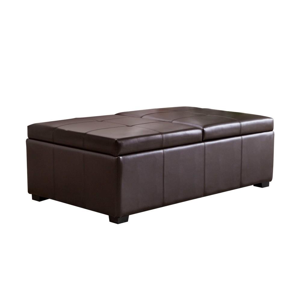 Excellent Joshua Double Flip Storage Ottoman Abbyson Living Brown Uwap Interior Chair Design Uwaporg
