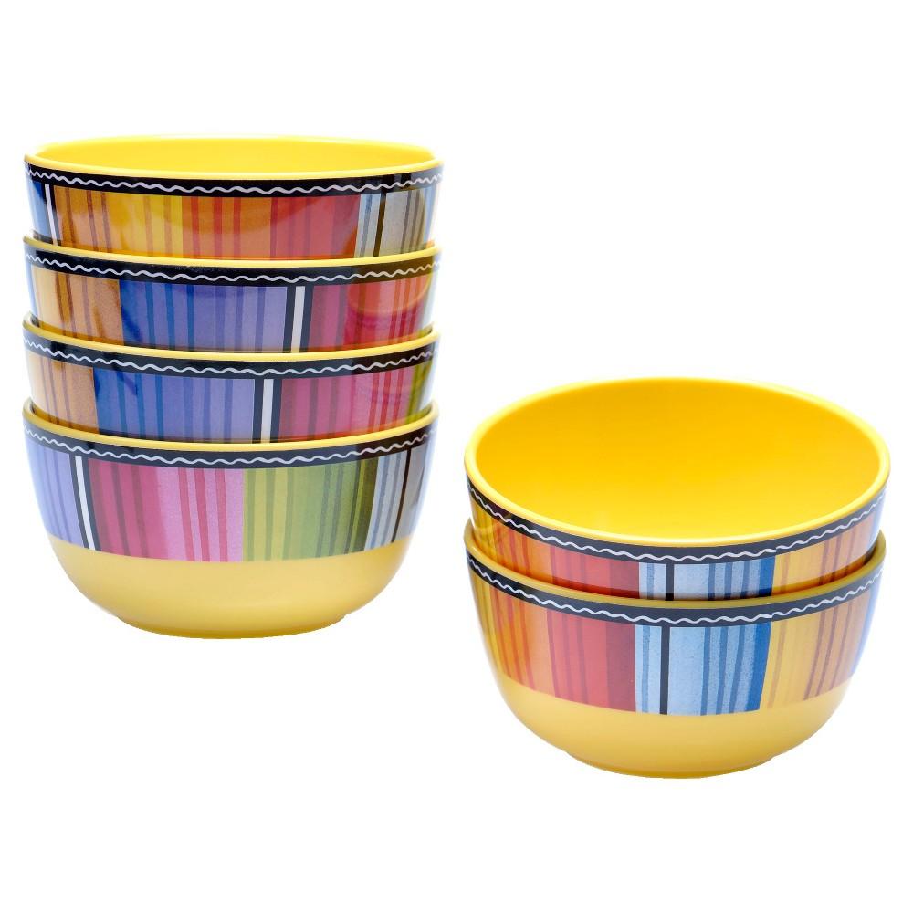 Ice Cream Bowls Melamine Serape 22oz Set of 6 - Certified International
