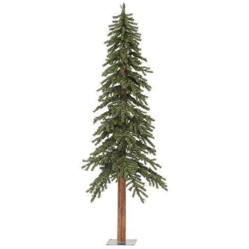 6ft Unlit Artificial Christmas Tree Slim Natural Bark Alpine - image 1 of 2