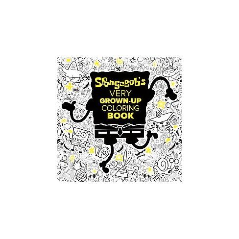 spongebob very grown up coloring book paperback target