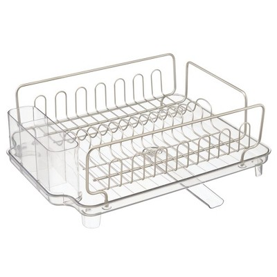 mDesign Large Kitchen Dish Drying Rack / Drainboard, Swivel Spout
