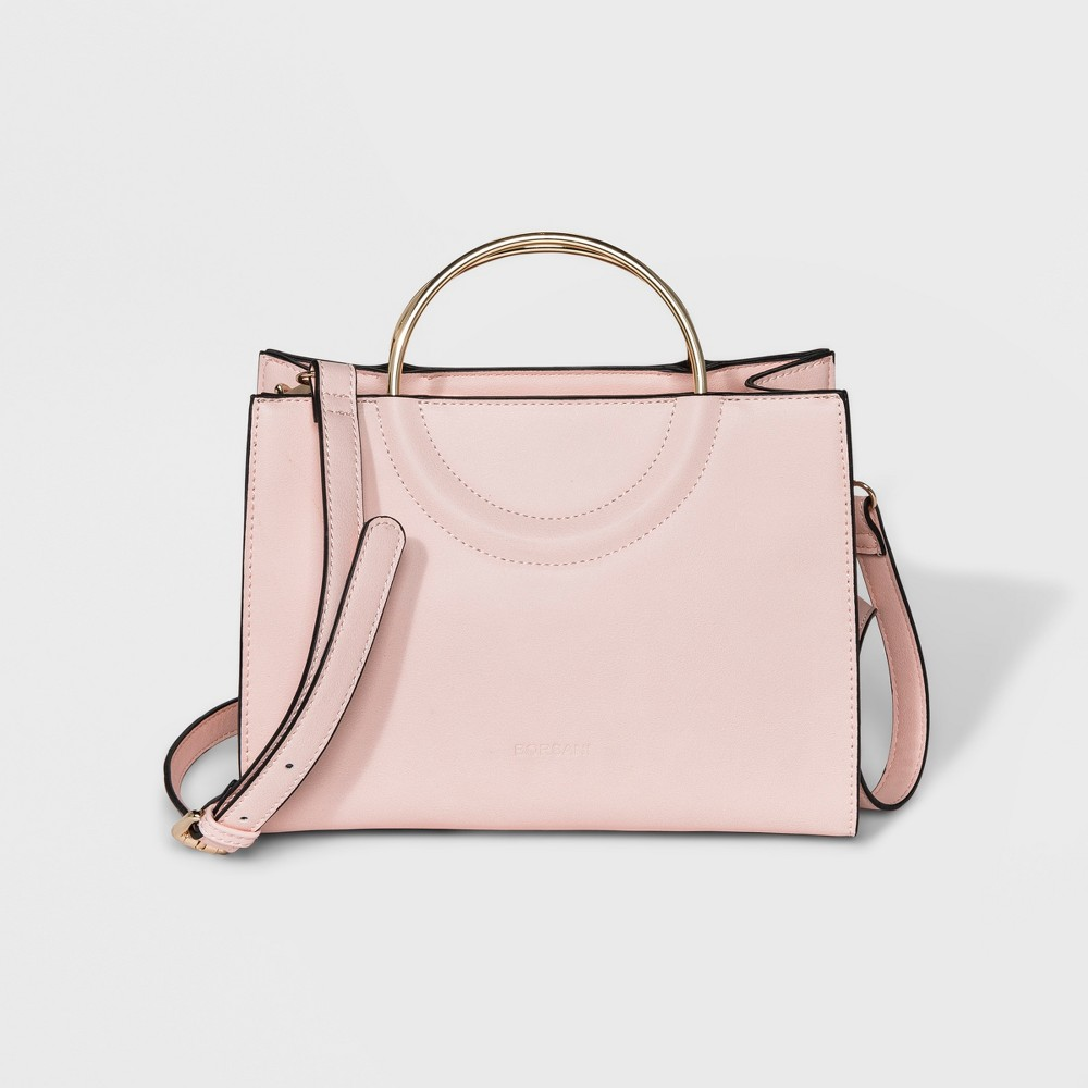 Image of Borsani Caleb Satchel Handbag - Rose, Women's, Size: Medium, Pink
